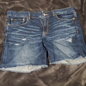 American Eagle Distressed Jean Shorts 100% cotton